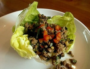Chef Amy Caseys Curried Beef Lettuce Wrap