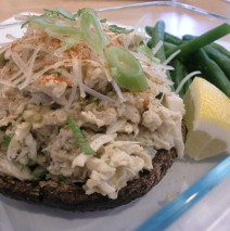 Crab Cake Stuffed Portebello Mushrooms