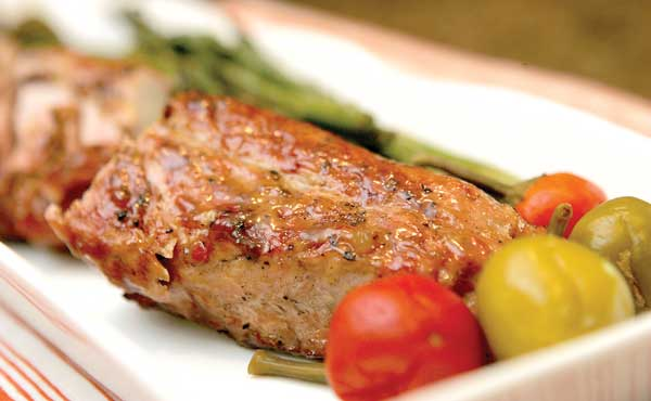 Grilled Pork Tenderloin with Pepper Jelly Glaze – Amy Casey