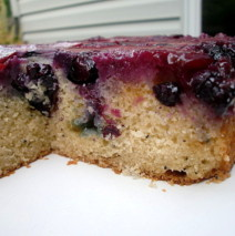 Summer Plum and Blueberry Upside Down Cake