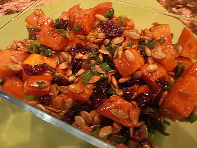 Warm Roasted Sweet Potato Salad with Mango Chutney Dressing | Amy ...