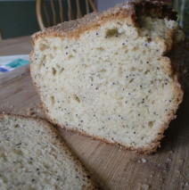 Poppy Seed Almond Quick Bread
