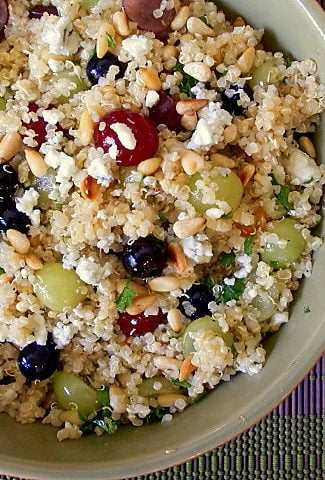 a refreshing salad with quinoa and fruit