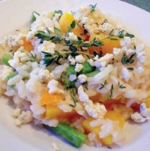 Butternut Squash and Green Bean Risotto