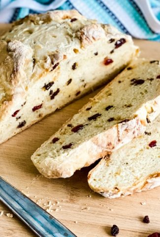Irish soda bread with slices