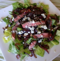 Balsamic Herb Steak and Red Onion Salad
