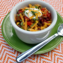Chunky Summer Vegetable and Bean Chili