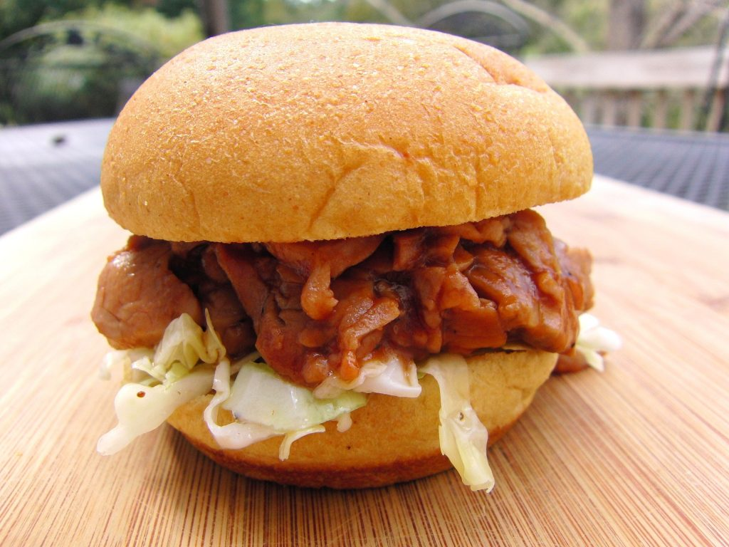 Barbecue Pork Tenderloin Sliders with Tangy Cole Slaw | Amy Casey