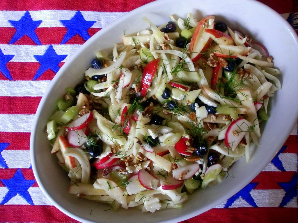 fennel apple radish slaw salad 7.1.15 004