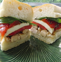 Grilled Balsamic Chicken Sandwiches with Fresh Mozzarella and Tomatoes