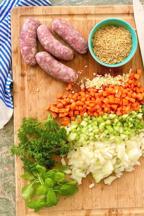 ingredients for pasta e fagioli
