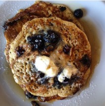 Blueberry Bread Pudding Flapjacks