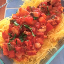 Roasted Italian Spaghetti Squash with Vegetable Bolognese