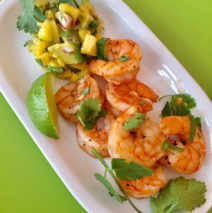 Lime and Cilantro Shrimp with Mango Avocado Salsa
