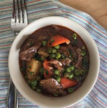 Irish Lamb Stew with Carrots, Parsnips, Potatoes, Peas and Guinness