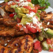 Grilled Lime Chile Chicken with Avocado Tomato Salsa