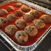Sicilian Meatballs with Basil Marinara
