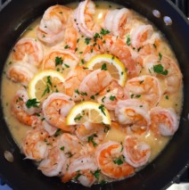 Lemon and Garlic Shrimp Scampi