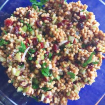 Orange Scented Couscous Salad with Cranberries and Maple Pecans