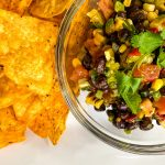 bowl of Tex Mex bean dip