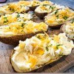 cheddar stuffed potatoes