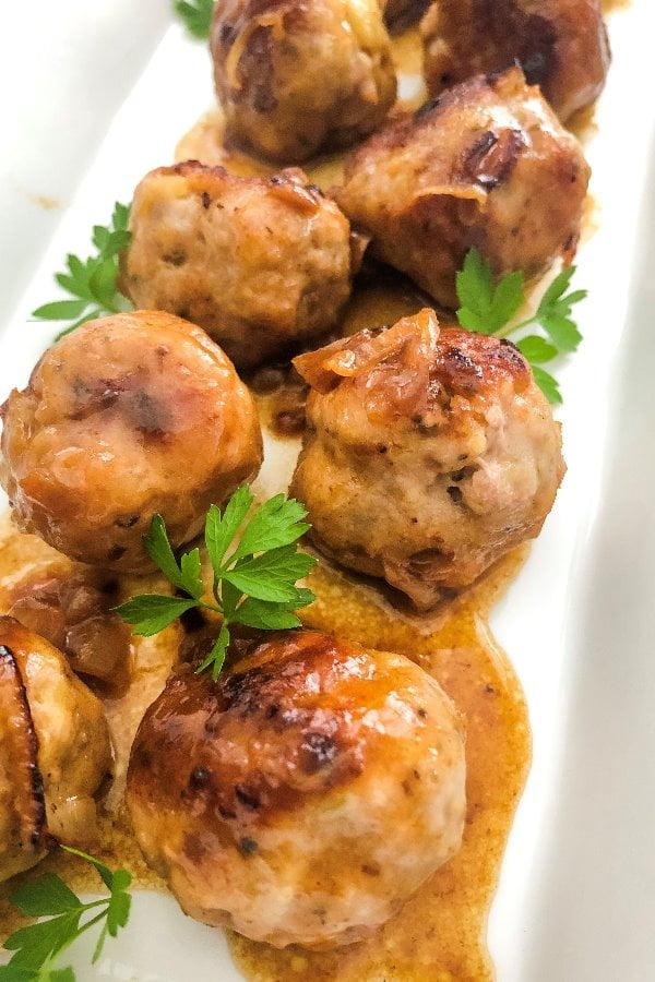 turkey meatballs with beer sauce