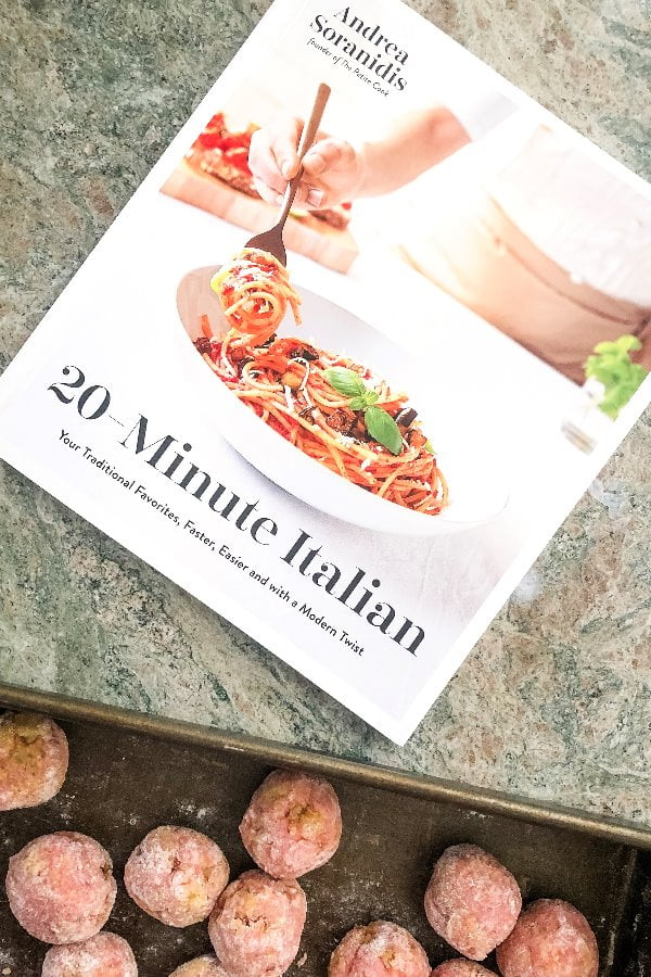 20 minute Italian cookbook cover and turkey meatballs