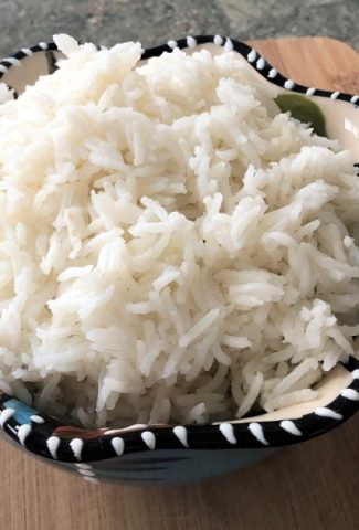 bowl of cooked fluffy rice