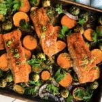 roasted salmon with vegetables