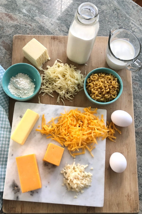 ingredients for macaroni and cheese recipe
