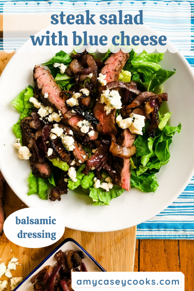 entree salad with steak and blue cheese