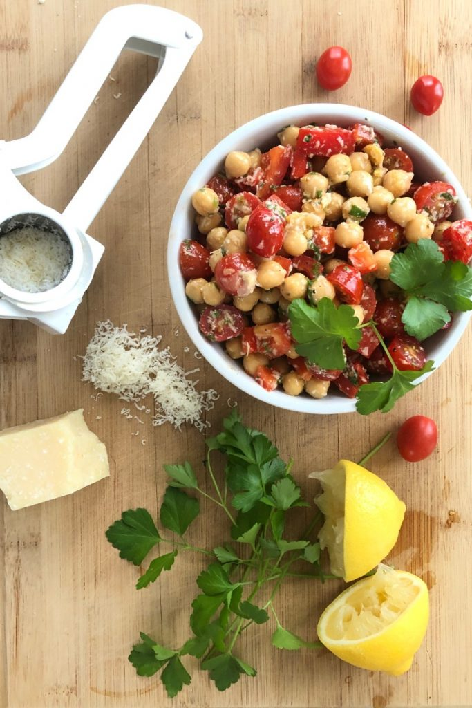 a fresh and delicious chickpea salad