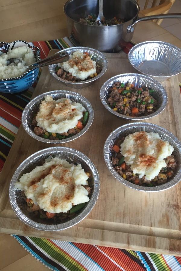 ingredients for shepherd's pies with cauliflower
