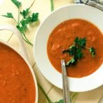 bowl of creamy tomato soup