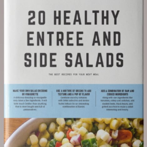 cover of cookbook by amycaseycooks - 20 healthy entree and side salads