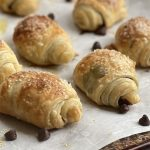 puff pastry rolls filled with chocolate