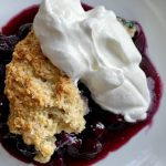 single serving of an easy blueberry cobbler recipe
