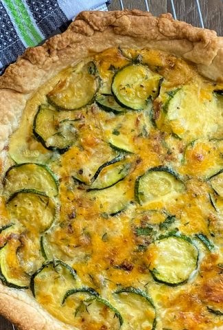 savory summer pie with zucchini