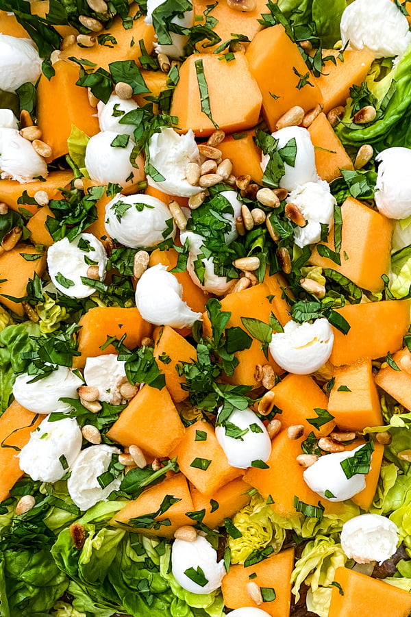 cantaloupe and mozzarella salad