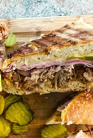 slice Cuban sandwich
