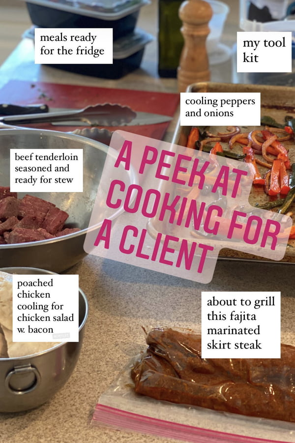 a peek at cooking for a personal chef client of amycaseycooks