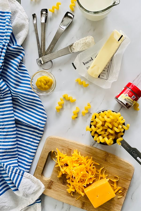 shredded cheese for a pasta dish