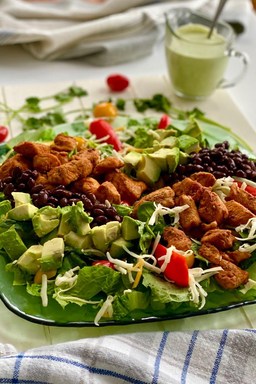 entrée southwest salad with chicken